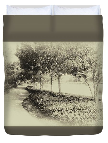 Walking At Old Key West Resort Wdw In Heirloom 02 Mp Duvet Cover
