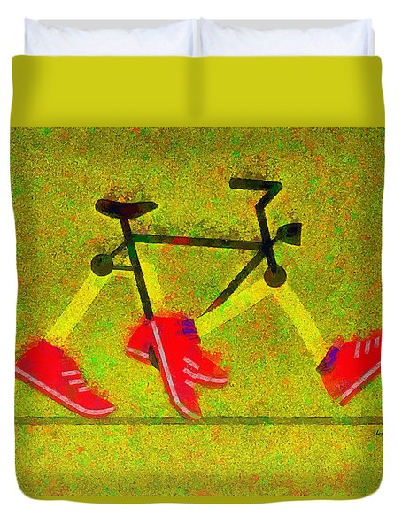 Walking Bike - Pa Duvet Cover