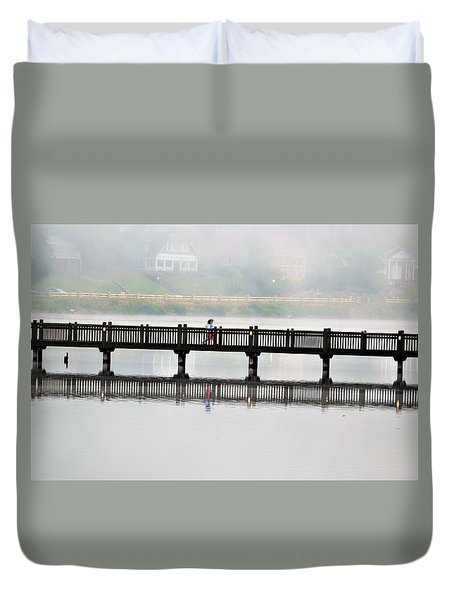 Walking Bridge Duvet Cover