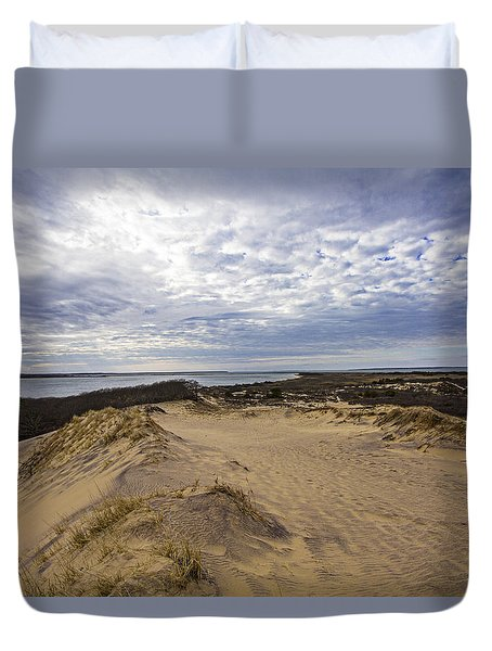 Walking Dunes Montauk Duvet Cover