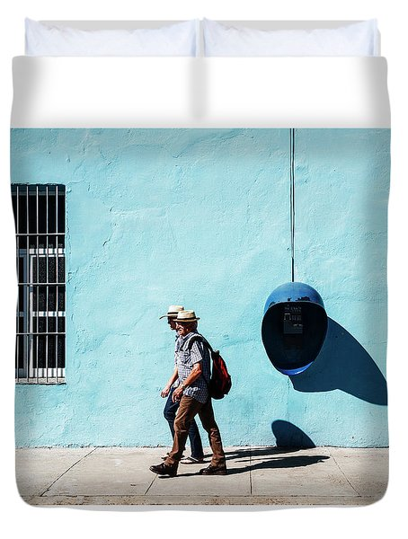 Walking Hats Duvet Cover
