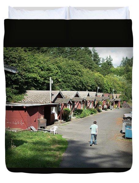 Walking Home Duvet Cover