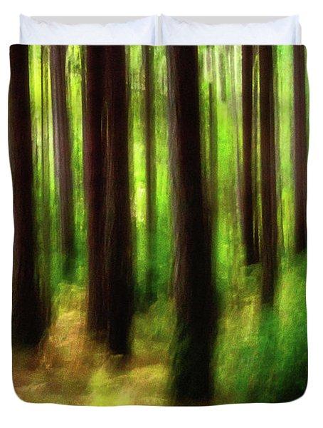 Walking In The Woods Duvet Cover