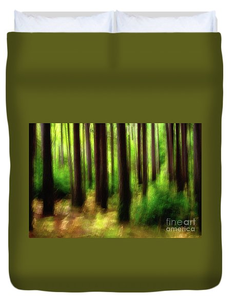 Walking In The Woods Duvet Cover