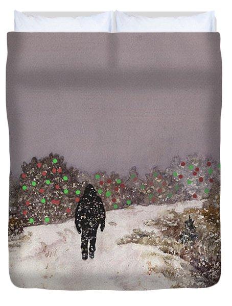 Walking Into The Light Duvet Cover
