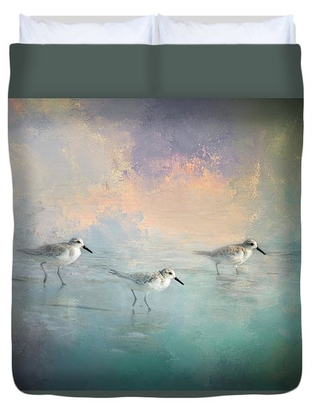 Walking Into The Sunset Duvet Cover by Marvin Spates