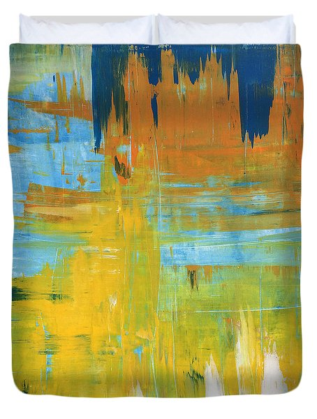 Walking On Sunshine - 48x48 Huge Original Painting Art Abstract Artist Duvet Cover