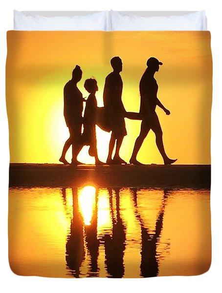 Walking On Sunshine Duvet Cover