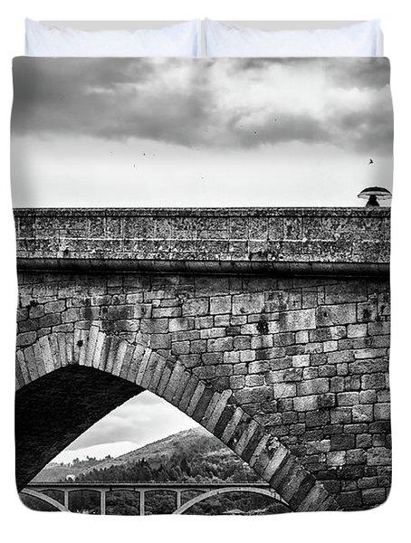 Walking On The Roman Bridge Duvet Cover