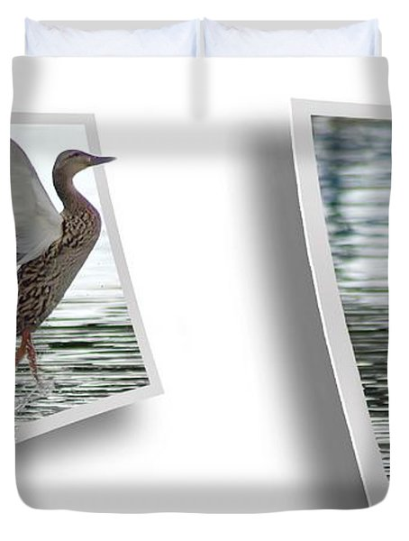 Walking On Water - Gently Cross Your Eyes And Focus On The Middle Image Duvet Cover by Brian Wallace