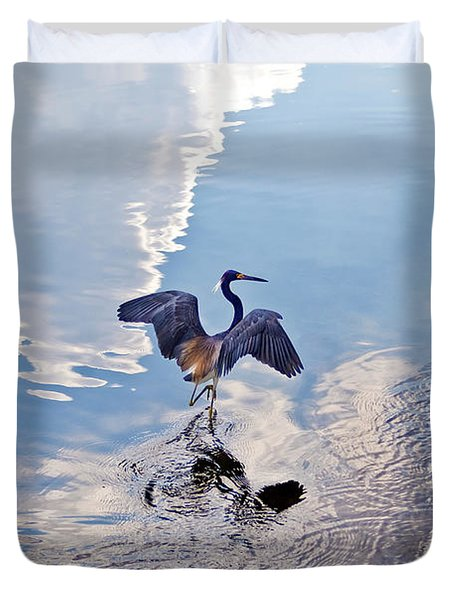 Walking On Water Duvet Cover