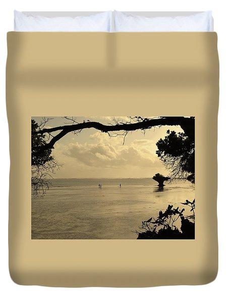 Walking On Water Duvet Cover