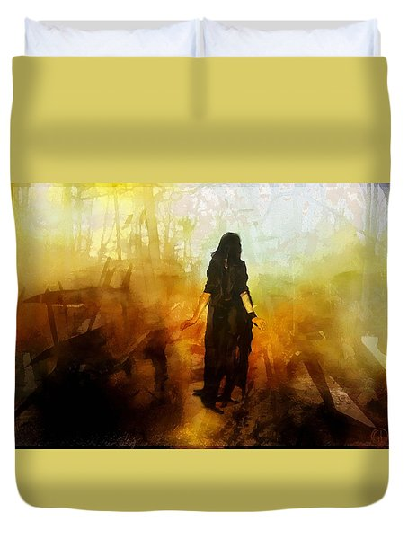 Walking Out From Chaos Duvet Cover