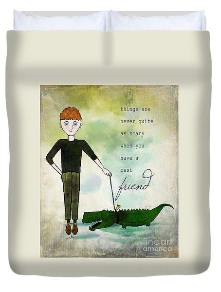 Walking Reginald From Ginkelmier Land Duvet Cover