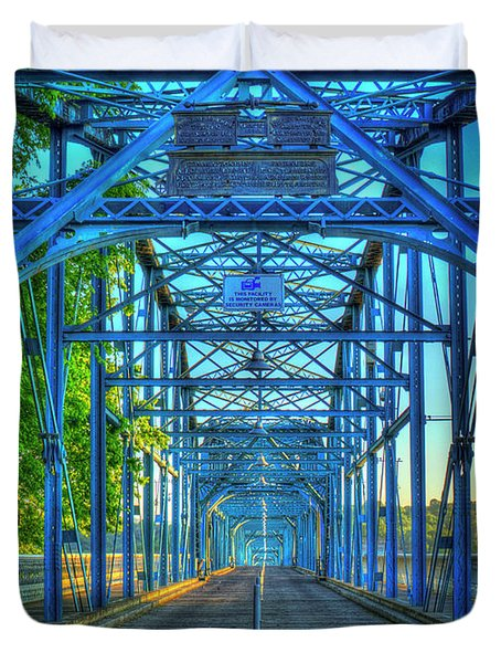 Walking Tall Walnut Street Pedestrian Bridge Art Chattanooga Tennessee Duvet Cover