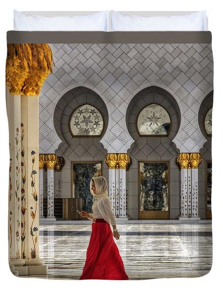 Walking Temple Duvet Cover by John Swartz
