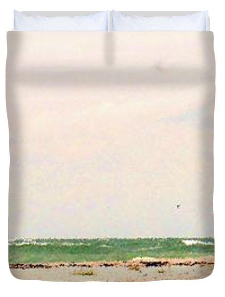 Walking The Beach Duvet Cover by Ian  MacDonald