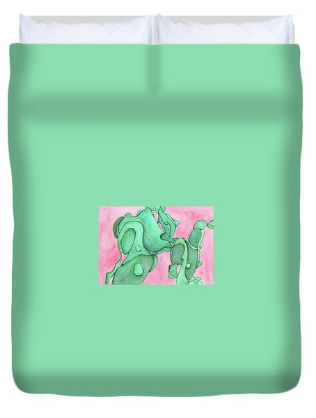 Man And His Best Friend 2 Duvet Cover