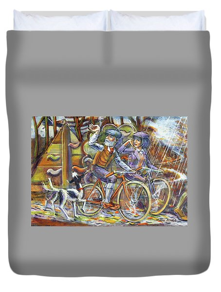 Walking The Dog 3 Duvet Cover