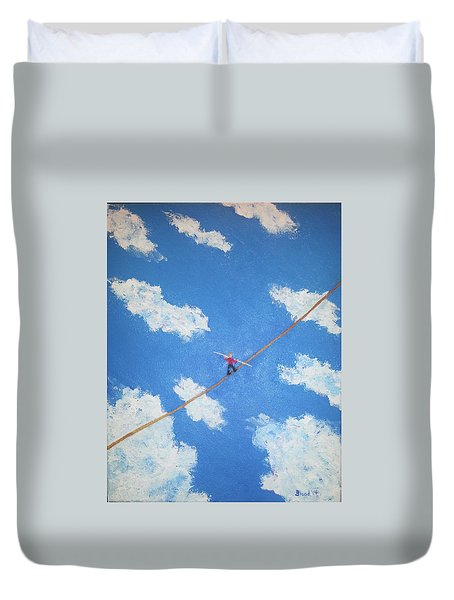 Walking The Line Duvet Cover