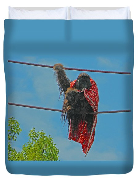 Walking The O Line At Smithsonian National Zoo Duvet Cover