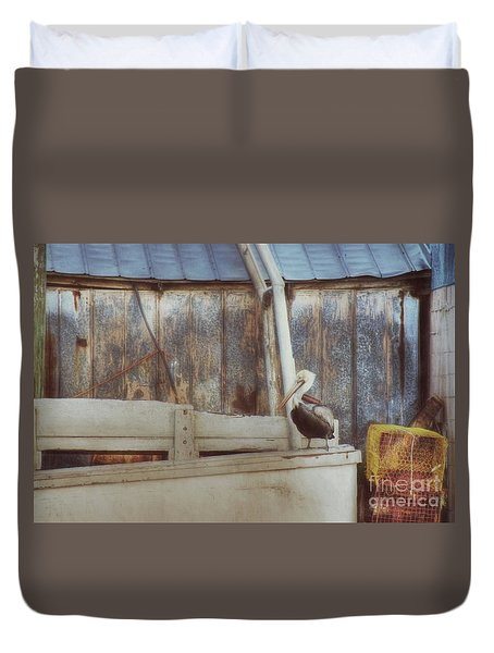 Duvet Cover featuring the photograph Walking The Plank by Benanne Stiens