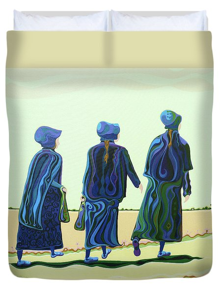 Walking The Walk Duvet Cover