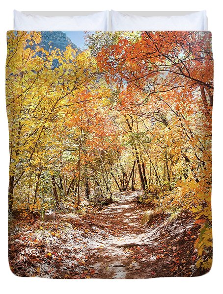 Walking Through A Bigtooth Maple Forest In Mckittrick Canyon - Guadalupe Mountains National Park  Duvet Cover