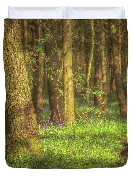 Walking Through The Bluebell Wood Duvet Cover