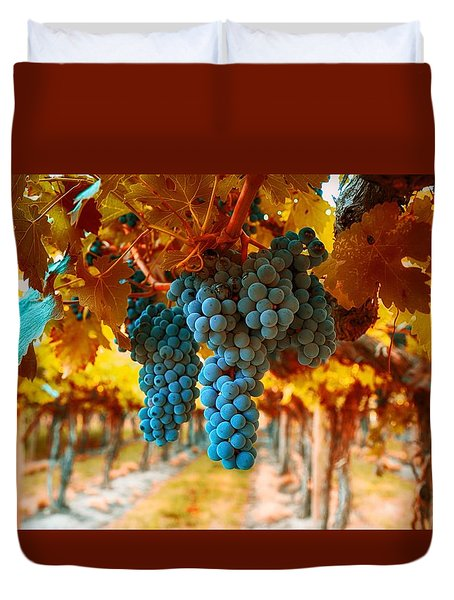 Walking Through The Grapes Duvet Cover