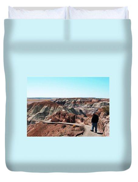 Walking Through The Painted Desert Duvet Cover