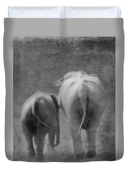 Walking Together Duvet Cover