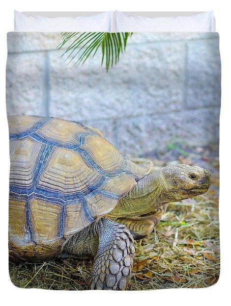 Walking Turtle Duvet Cover