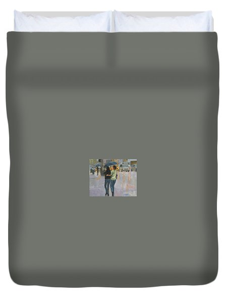 Walking With You Duvet Cover