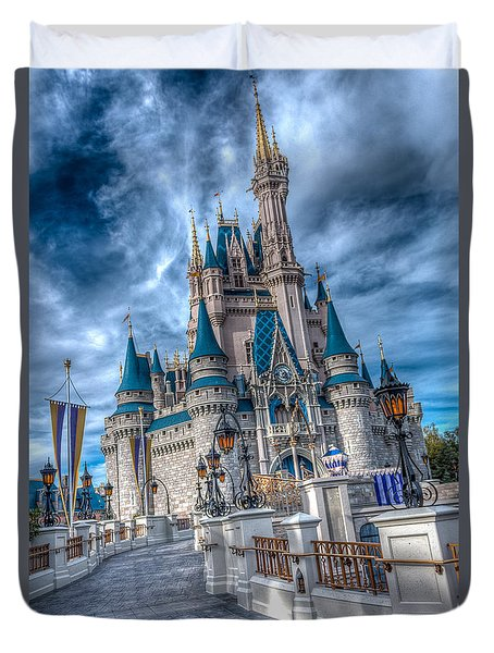 Walkway To Cinderellas Castle Duvet Cover