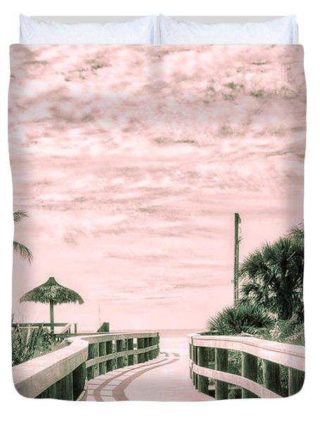 Walkway To The Beach Duvet Cover