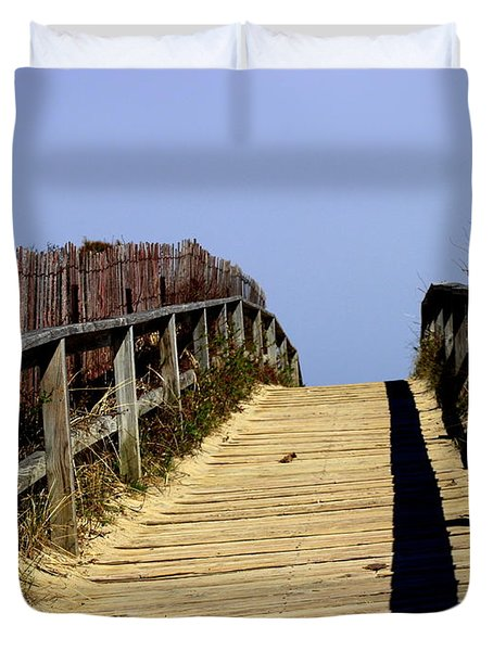 Walkway To The Sky Duvet Cover