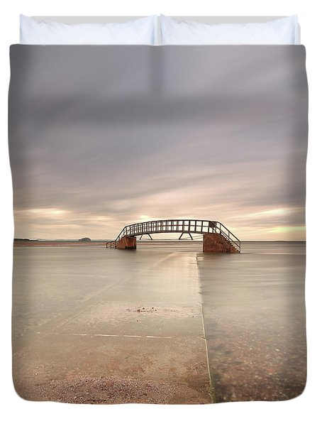 Walkway To The Stairs Duvet Cover