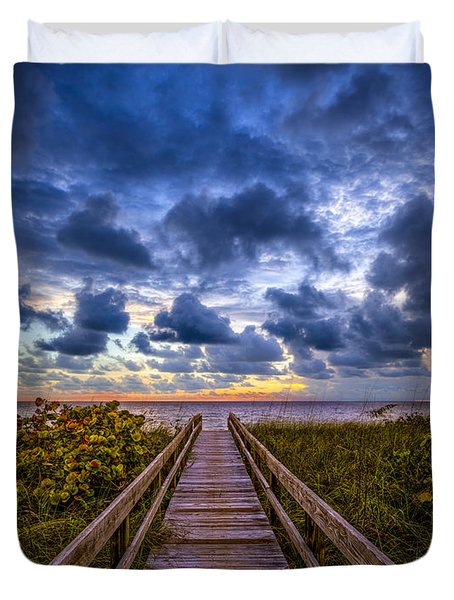 Walkway To Tomorrow. Duvet Cover