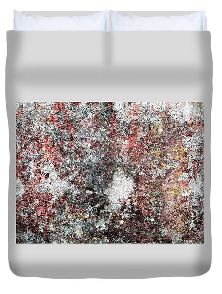 Wall Abstract 103 Duvet Cover by Maria Huntley