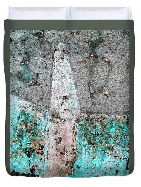 Wall Abstract 118 Duvet Cover by Maria Huntley