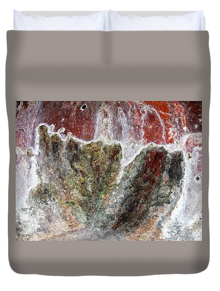 Wall Abstract 144 Duvet Cover by Maria Huntley