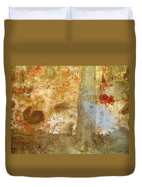 Wall Abstract 156 Duvet Cover by Maria Huntley