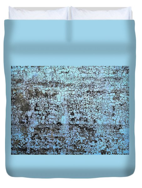 Wall Abstract 163 Duvet Cover by Maria Huntley