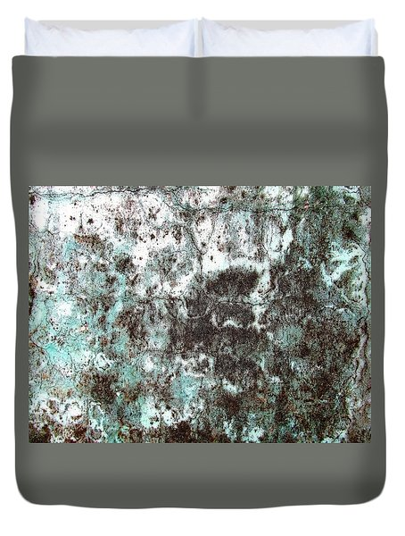 Wall Abstract 173 Duvet Cover by Maria Huntley