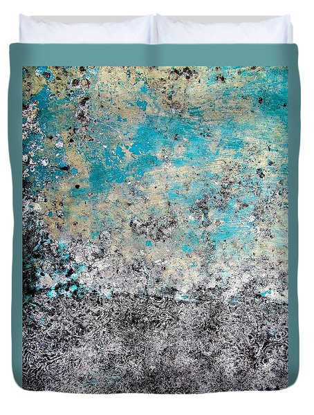 Wall Abstract 174 Duvet Cover by Maria Huntley