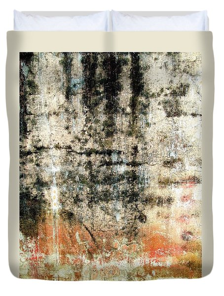 Wall Abstract 182 Duvet Cover by Maria Huntley
