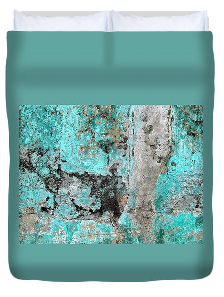 Wall Abstract 219 Duvet Cover by Maria Huntley