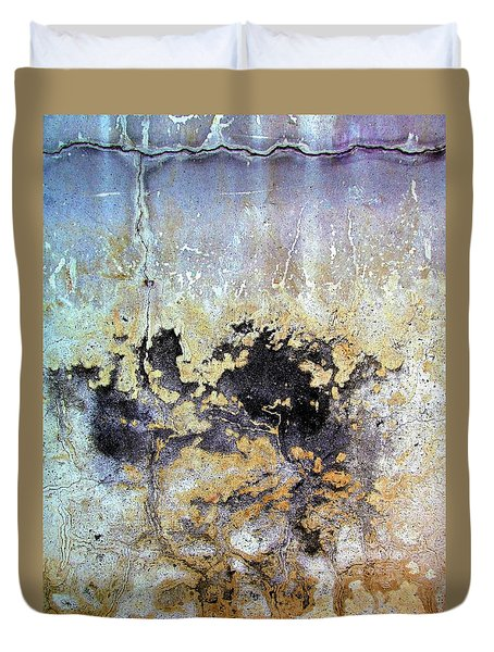 Wall Abstract 68 Duvet Cover