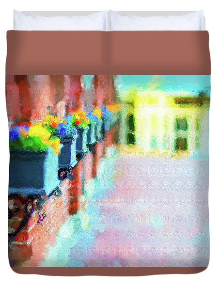 Wall Flower On The Mills In Amesbury Ma Duvet Cover